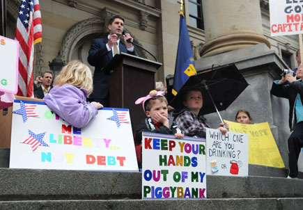 A Tea Party protest in Washington State.